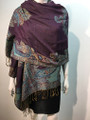 New!   Paisley Pashmina  Purple  Dozen #P161-5
