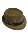 Summer Straw New York Fedora Hat  #8027-7