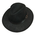 Fashion Summer Straw Hat Black # H8025-5