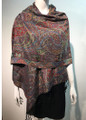 New!  Multicolor Paisley Pashmina  Black Dozen #1022-1