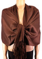 Pashmina Solid Coffee Brown #2-10