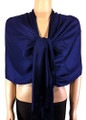 Pashmina Solid Navy Blue #2-23