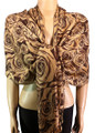 Pashmina Flowers Coffee #23-4