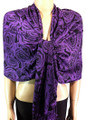 Pashmina Flowers  Purple #23-5