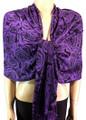 Pashmina Flowers  Purple #23-5