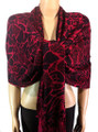 Pashmina Animal Maroon Black #82-1
