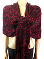 Pashmina Animal Burgundy Black #82-2