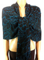 Pashmina Animal Teal Black #82-6