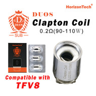 Horizon Duos Clapton Coil  [3-pk] | Horizon Tech | 0.2ohm ( Compatible with TFV8 )