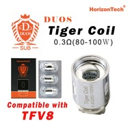 Horizon Duos Tiger Coil  [3-pk] | Horizon Tech | 0.3ohm ( Compatible with TFV8 )