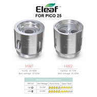 HW Ello HW1 HW2 Head Coils [5-pk] | Eleaf | ( for Pico 25 )