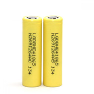18650 HE4 35A 2500mAh yellow rechargeable Battery | LG