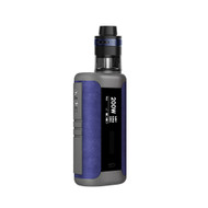 Introducing a high powered kit option, the Speeder Revvo kit. The Speeder is a compact but heavy duty 200W mod. Dual 18650 high rate batteries power this device that is packed with all the extras that Aspire users come to expect. Multiple TC/VV/VW/TCR and CPS (Customizable Power Setting option) for the vaping sweet spot. It has been coupled with The Revvo tank with an all new coil design, the ARC, Aspire Radar Coil, where the coil itself sits horizontally in the tank similar to a 'stove-top' for great flavor and great vapor production. It's a 24mm diameter tank with a 3.6ml standard version and a 2ml TPD version. The tank has a fully adjustable top airflow by way of 3 airflow slots a Pyrex glass tank allows you to see at a glance the amount of e-liquid in the tank, and extremely easy top fill through a spring loaded filling tube. This powerhouse of a mod with the Revvo tank gives a vast array of adjustable options. The Speeder Revvo kit comes in 3 leather finishes: blue leather/red leather/brown leather, the soft supplenes of real leather gives a more luxurious feel in the hand.