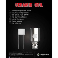 KANGERTECH CERAMIC COILS FIVE PACK AUTHENTIC