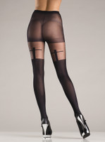 Sheer Shadow Cross Pantyhose