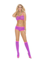 Striped Cami and Boyshort Set