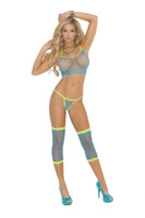 Neon Net Cami, Thigh Warmers and Thong Set