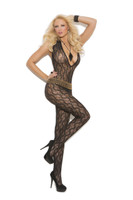 Plunging Lace Bodystocking