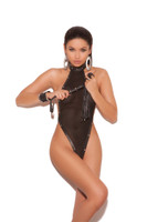 Fishnet Leather Studded Teddy