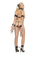 Leather and Chain Collar with Restraints