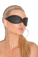 Black Leather Blindfold