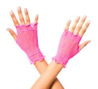 Fishnet Flounce Gloves