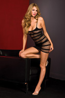 Diamond Net Spandex Mini Dress