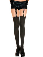 Heart Suspender Pantyhose