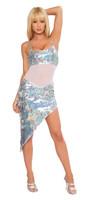 Sequin Asymmetrical Mini Dress