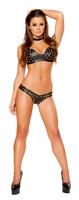 Studded Leatherette Bikini
