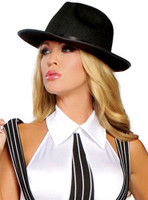 Black Banded Gangster Hat