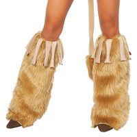 Fringe & Fur Leg Warmers