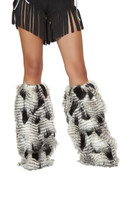 Feather Look Leg Warmers