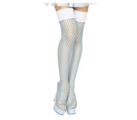 Ice Blue Fishnet Thigh Highs