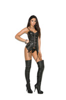 Leather Underwired Buckled Straps Bustier
