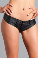 Low Rise Micro Leatherette Shorts