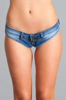 Low Rise Micro Jean Shorts
