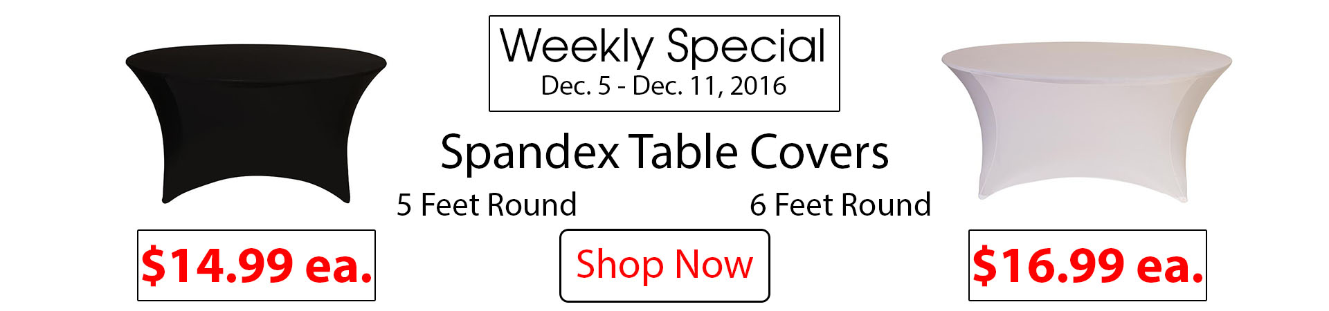 spandex table covers round