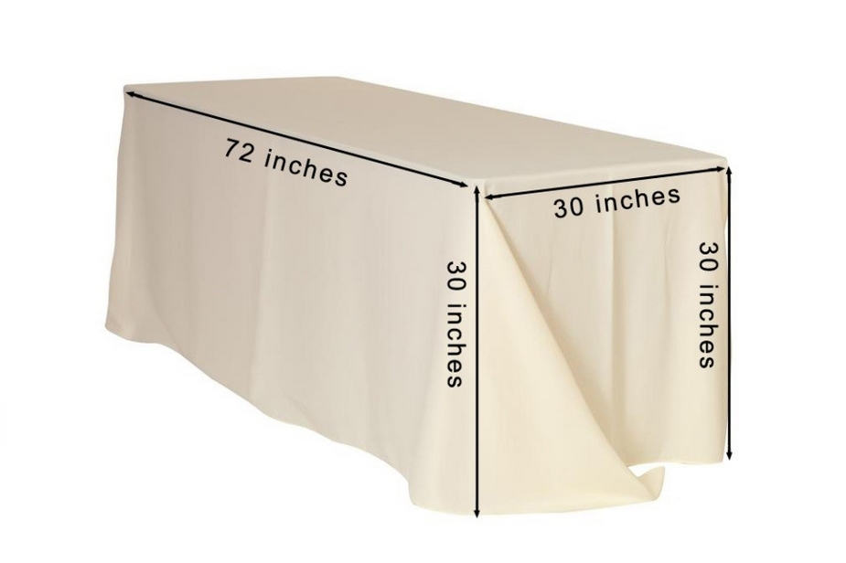 what size tablecloth for 6 foot table rectangular table 2