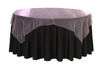 72 inch Square Organza Table Overlays Lavender