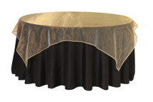 "Organza Overlay 90"" x 90"" Square - Gold"