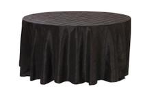 120 Inch Pintuck Taffeta Round Tablecloths Black