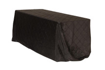90 x 156 inch Pintuck Taffeta Rectangular Tablecloths Black