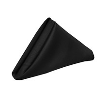 20 inch Polyester Cloth Napkins Black