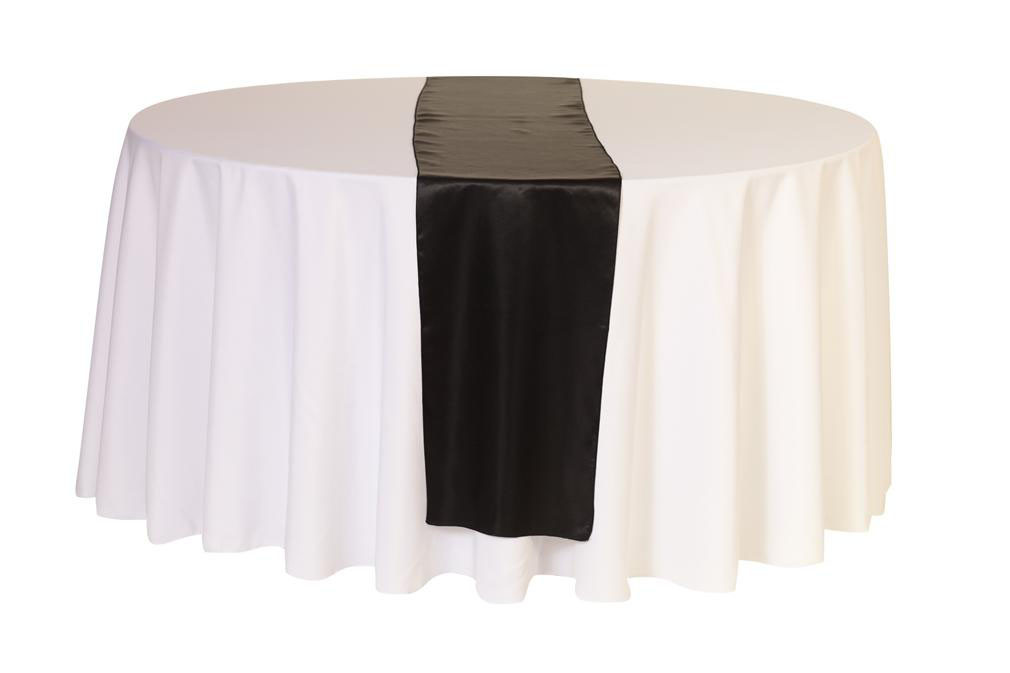 14 x 108 inch black satin table runners for weddings for 108 inch table runners