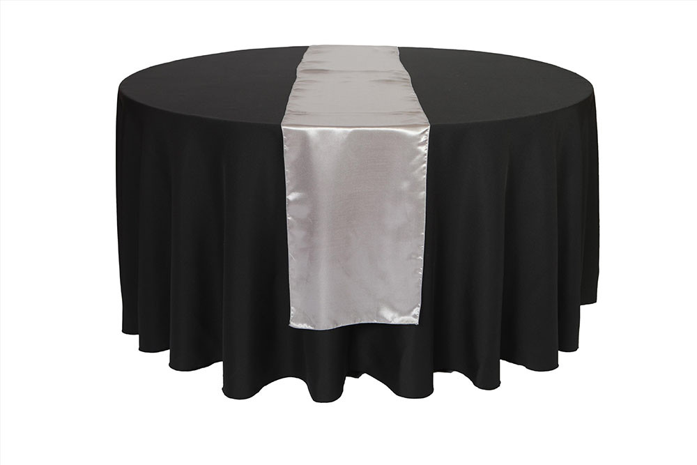14 x 108 inch dark silver platinum satin table runners for for 108 inch table runners