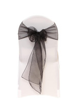 Organza Sashes Black