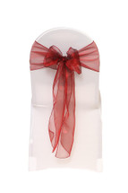 Organza Sashes Burgundy