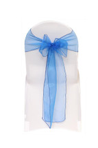 Organza Sashes Royal Blue