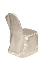 Satin Banquet Chair Covers Ivory